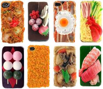 jewels iphone case iphone cover food weird cool spaghetti strap egg bacon shrimp vegetables