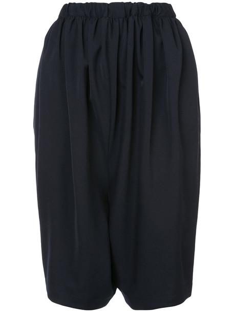 Comme des Garçons Comme des Garçons culottes oversized women blue wool pants
