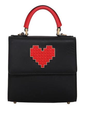 bag heart lego handbag red