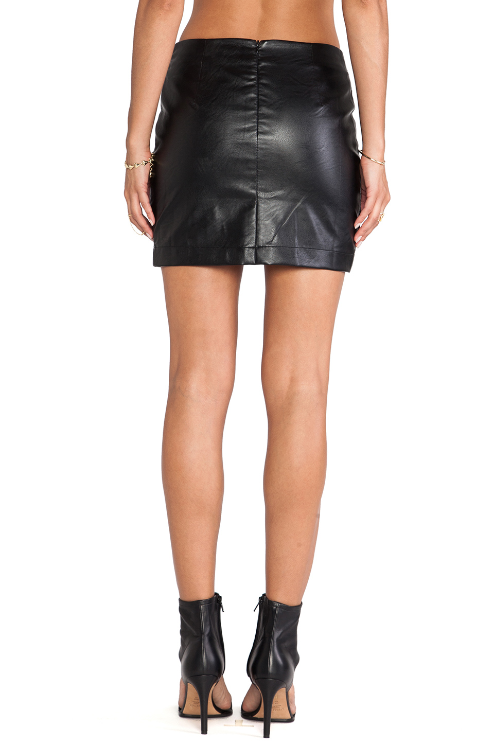 Bless'ed are the meek fracture skirt in black from revolveclothing.com