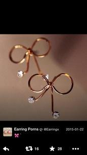 jewels,earrings,bow