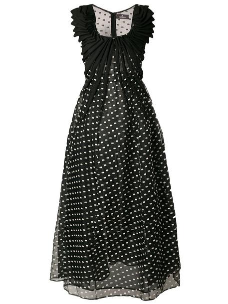 CAPUCCI dress women black silk