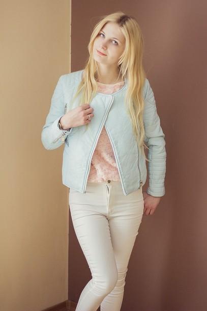 charmeuse blogger jacket white jeans