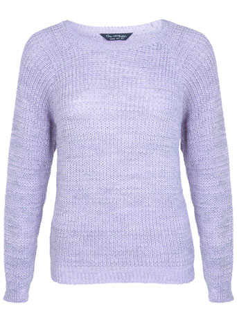 Purple Fisherman Rib Jumper - Knitwear  - Clothing  - Miss Selfridge