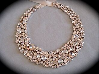 jewels rose gold ribbon swarovski
