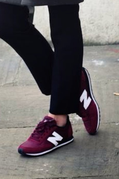shoes, dark, red, burgundy, new balance