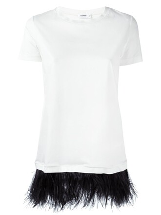 t-shirt shirt embellished white top