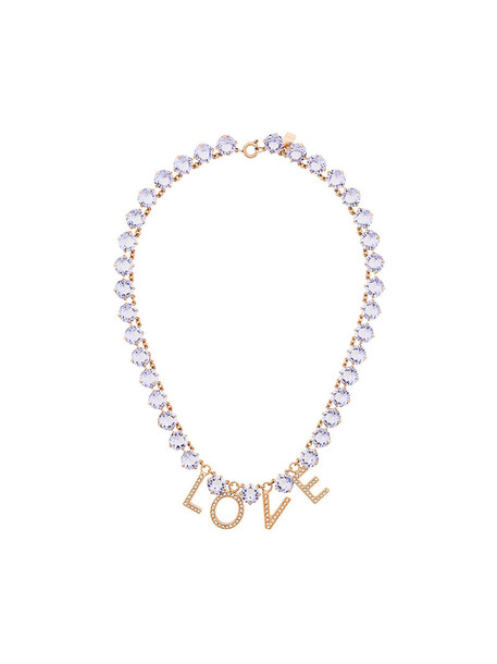 women love necklace purple pink jewels