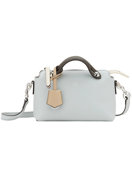 Fendi - mini By The Way tote - women - Calf Leather/Cotton/Polyester/Polyurethane - One Size, Grey, Calf Leather/Cotton/Polyester/Polyurethane