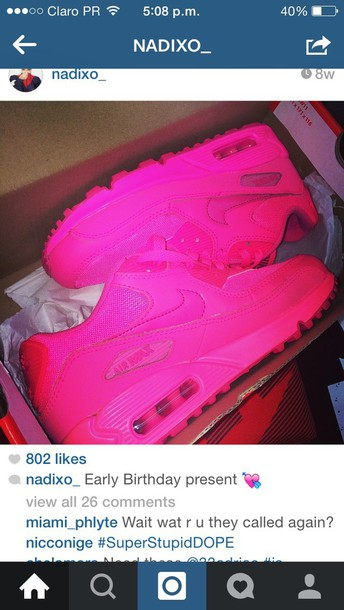 shoes nikes air max pink