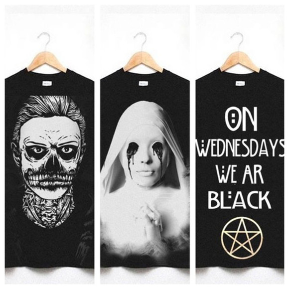 vintage grunge t-shirt black ahs american horror story evan peters