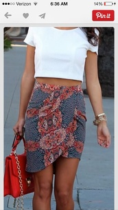 skirt,shirt,midi skirt,high waisted,wrap skirt,dress,short,tight,floral skirt,colorful skirt,pretty,navy,floral,pinterest,colorful,bodycon,side wrapped style,patterned skirt,top