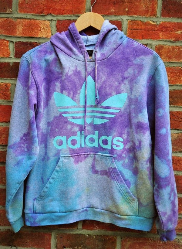 adidas tie dye sweater jacket