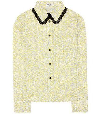 blouse cotton yellow top