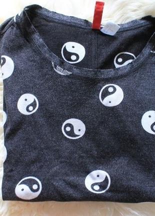 Débardeur gris ying yang