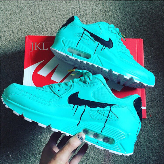 best website 26a02 6e5c7 Tiffany Nike Air Max  drips  unisex customs.