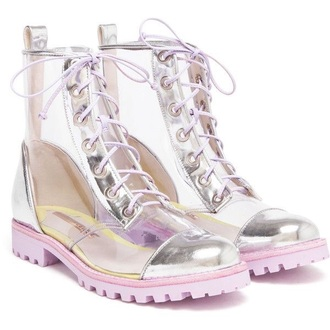 shoes kawaii holographic dope style transparent fashion