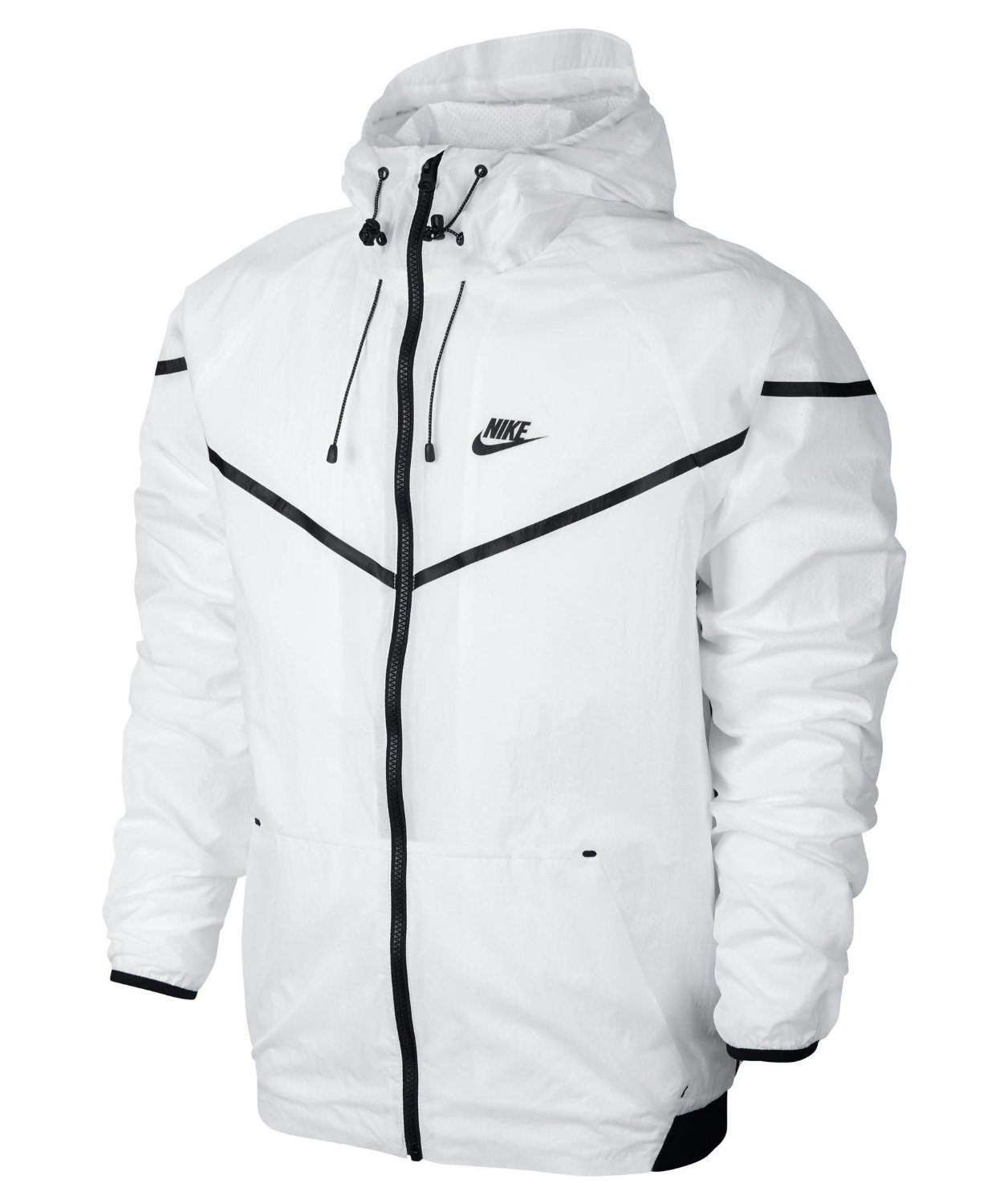 com: Nike Mens Tech Aeroshield Windrunner Jacket White/Black ...