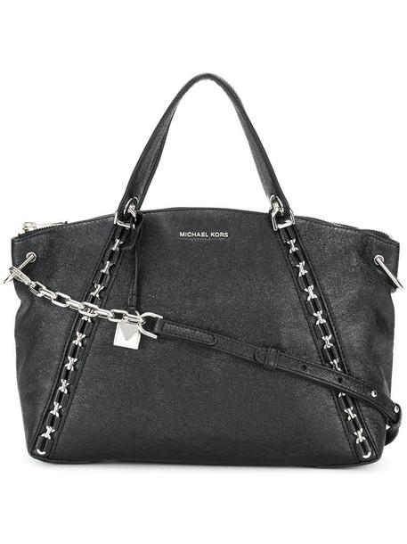 MICHAEL Michael Kors satchel women leather black bag