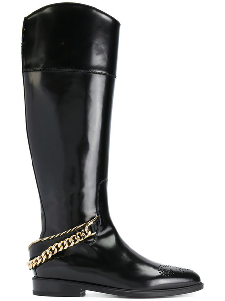 lanvin women embellished boots leather black shoes