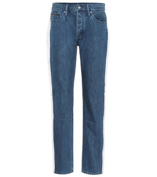 Calvin Klein Jeans High-waisted taped jeans in blue