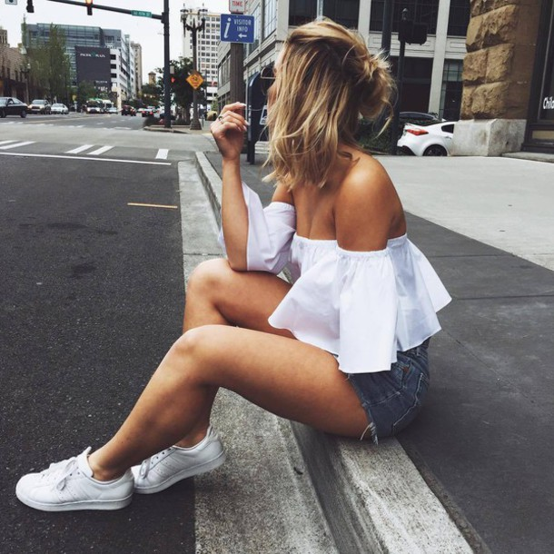adidas shorts outfit