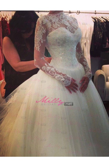 Buy beading organza wedding dress at millybridal.net