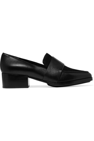 loafers leather suede black shoes