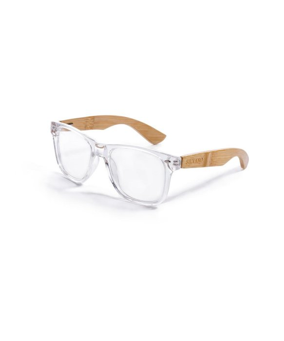 Silvano Clear/ Tan Wayfarer Eyewear | BLUEFLY up to 70% off designer brands