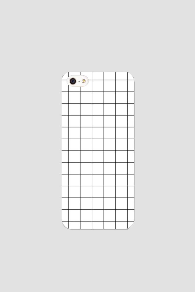 White grid phonecase