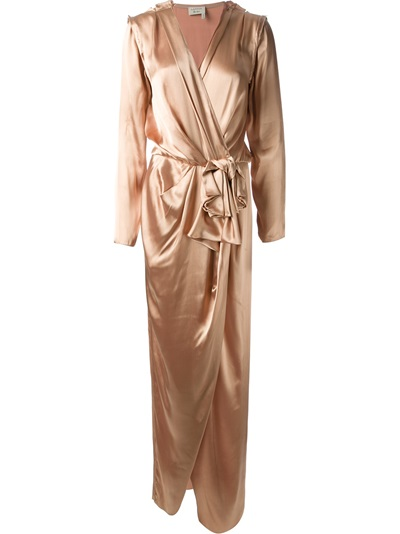 Lanvin Belted Draped Gown - Julian Fashion - Farfetch.com