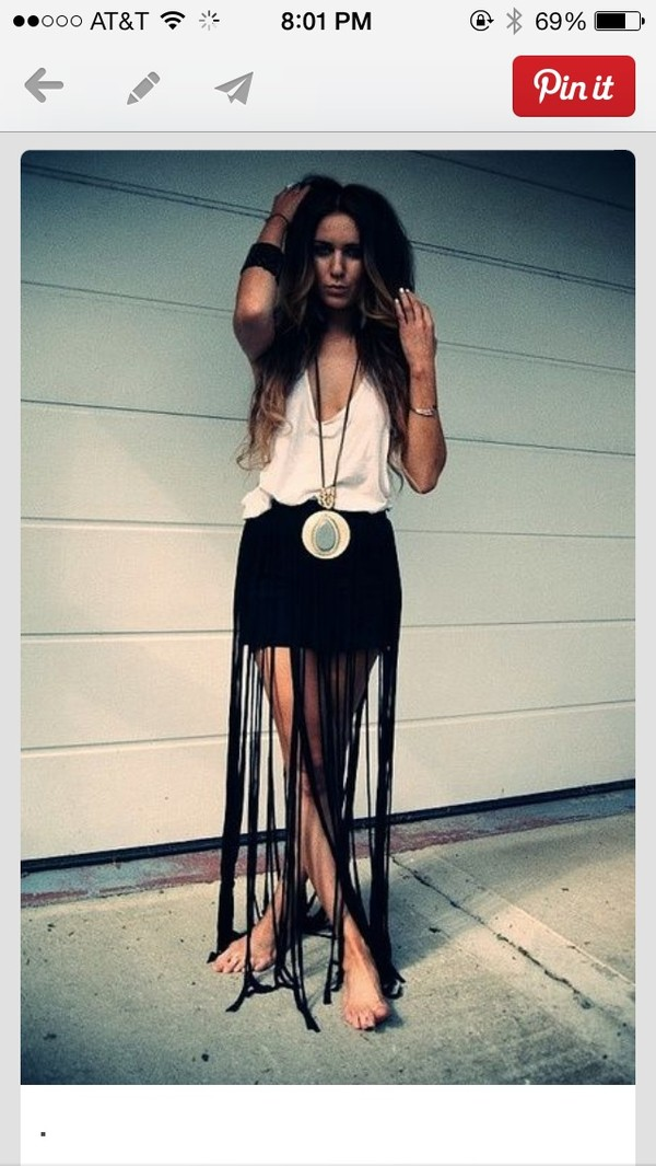 Fringe Black Skirt - Shop for Fringe Black Skirt on Wheretoget