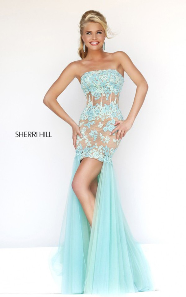 sherri hill 11110 high low prom dress