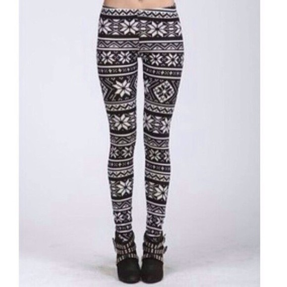 aztec tribal print tribal pattern cute white aztec print pants leggings tribal leggings aztec leggings black and white black
