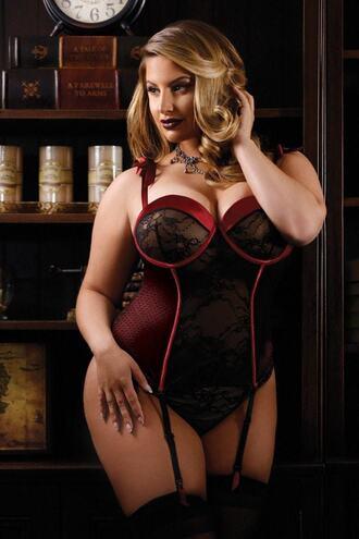 underwear black curve lingerie red bikiniluxe