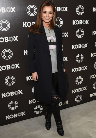 top cheryl cole fall outfits boots coat