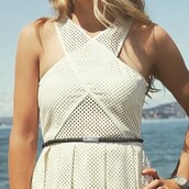 dress,saylor,white,whie dress,short dress,mesh,revolve clothing,revolveme,revolve