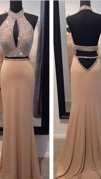 dress gown fashion ball gown dress gold beige dress yellow dress sparkly dress sequin dress prom dress gold sequins mermaid prom dress maxi dress