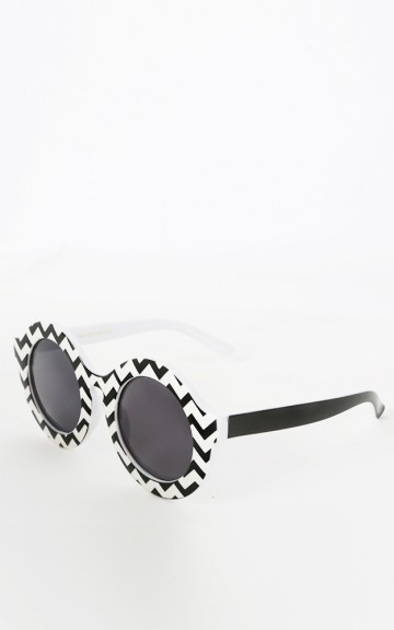 Circle Chevron Sunglasses | MakeMeChic.com