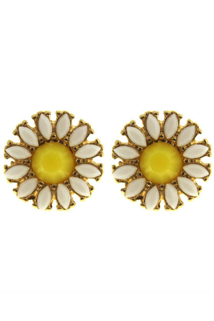 ROMWE   Faceted Stone Earrings, The Latest Street Fashion