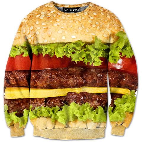 Burger Sweatshirt - READY TO SHIP
