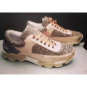 shoes sneakers medium heels glitter pink trendy basket pink basket