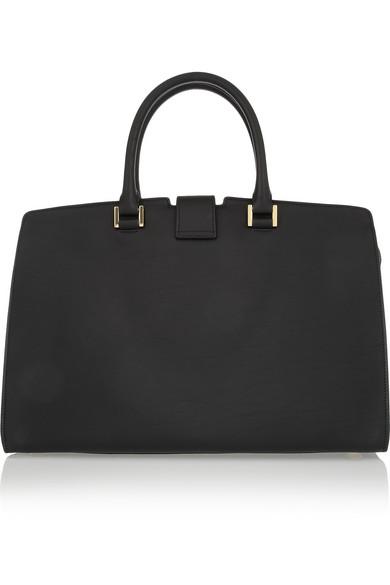 Saint Laurent|Cabas Chyc medium leather shopper|NET-A-PORTER.COM