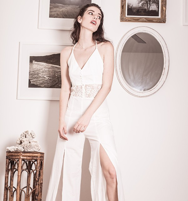 jumpsuit streetstyle stylemoi white jumpsuit summer outfits