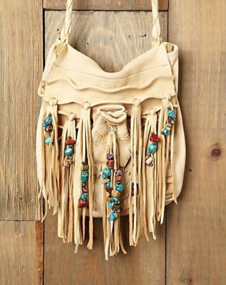 native american bag tassels turquoise