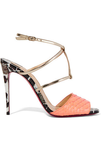 metallic python 100 sandals leather coral shoes