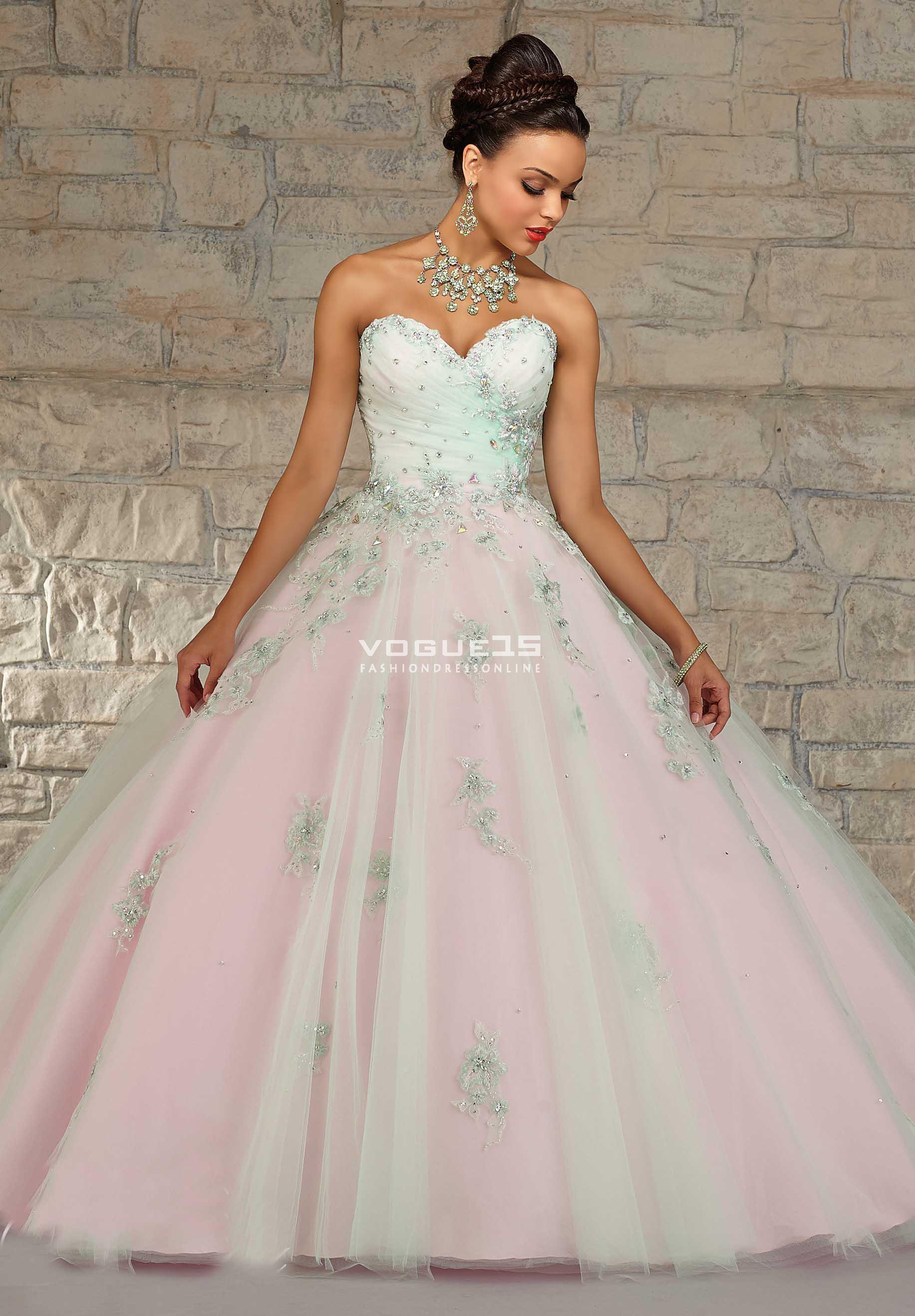 f56f9b4dd176 2016 New light pink overlaid with ivory tulle sweet 15 dress puffy  quinceanera ball gown with ...
