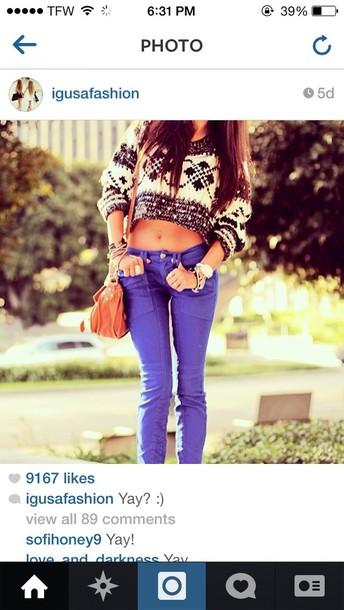 jeans blue blouse