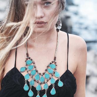 jewels bohemian jewelry hippie gypsy festival statement necklace vanessa hudgens