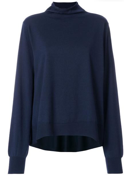 Wunderkind sweater turtleneck turtleneck sweater women blue wool